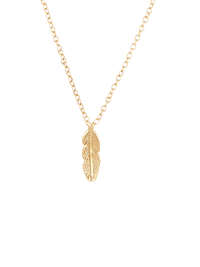 Fortune Feather Necklace