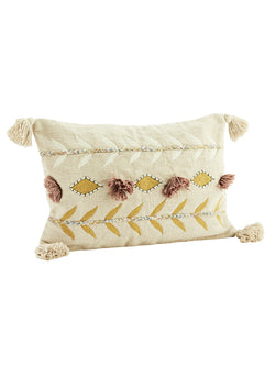 Embroidered Tassel Cushion