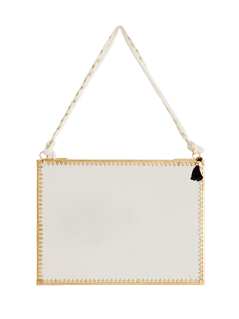 Landscape Gold Hanging Mirror