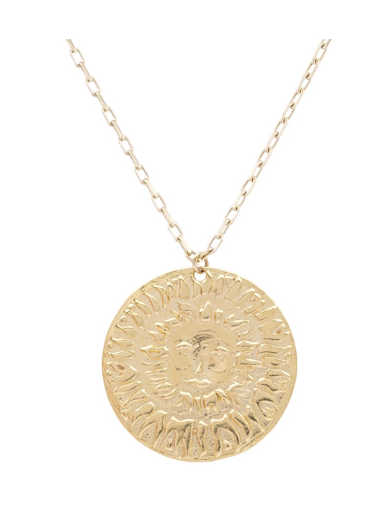 Lion Sun Pendant Necklace