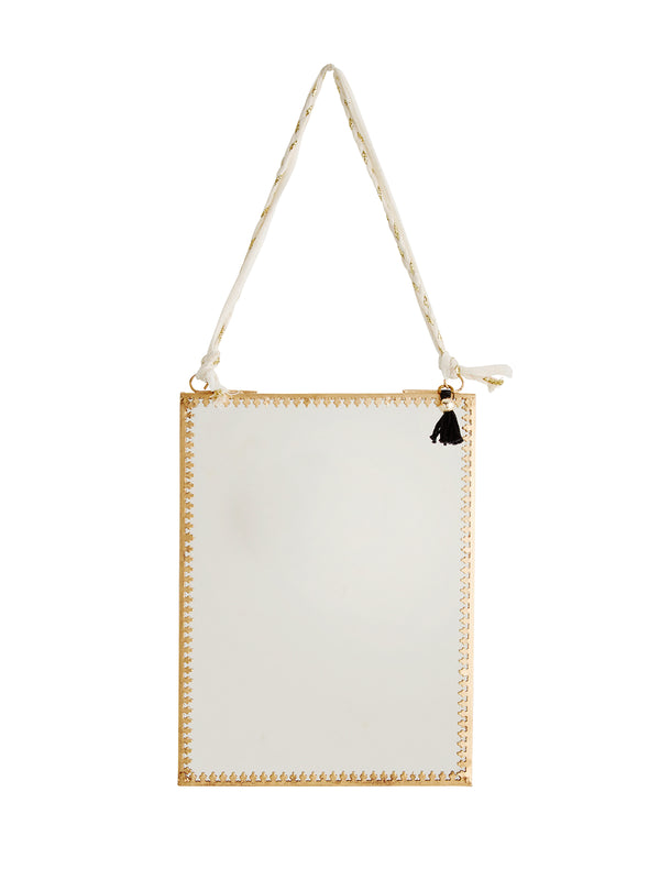 Portrait Gold Hanging Mirror