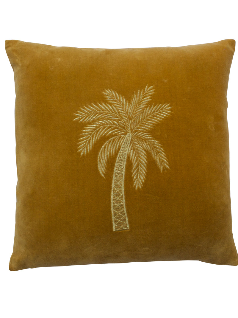 Velvet Palmtree Cushion