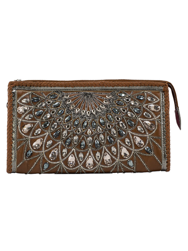 Tan Fan Purse