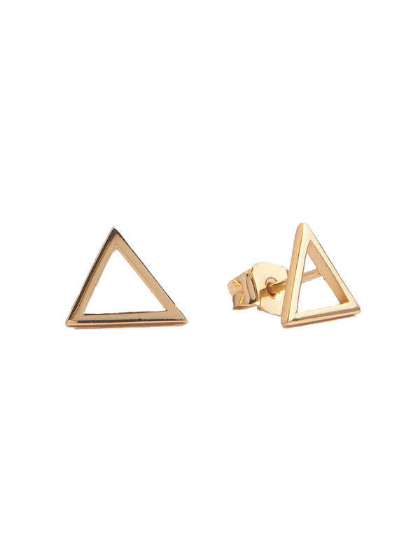 Elements Gold Triangle Earrings