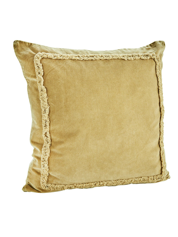 Velvet Vintage Yellow Cushion