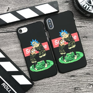 Rick And Morty Supreme Phone Case
