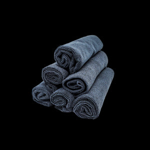 Black Trimless Microfiber Towels