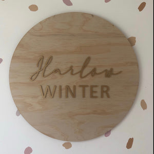 Large Personalised 3D Timber Sign
