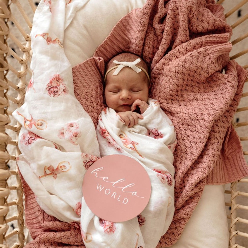 Rosa | Diamond Knit Baby Blanket