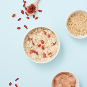 Chicken Congee with Goji Berries