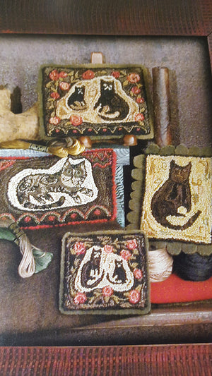 Here a Kat There a Kat - Punch Needle Patterns by Belle Prairie Primitives