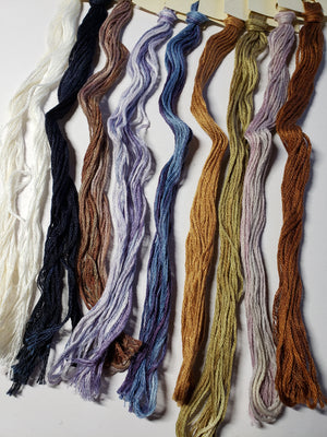 Hand Dyed Cotton 6 Strand Thread - Limited Edition Father Sail Home - Gentle Art Cotton Threads - 9 skeins of 5 yards