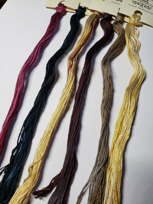 Hand Dyed Cotton 6 Strand Thread - Limited Edition Harvest - Gentle Art Cotton Threads - 6 skeins of 5 yards