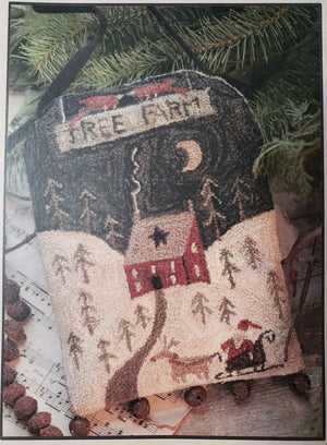 Tree Farm Door Hanger - Punch Needle Pattern by Brenda Gervais #249