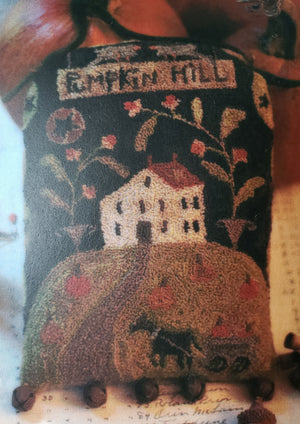 Pumpkin Hill - Punch Needle Pattern by Brenda Gervais #245