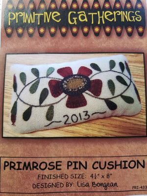 Primrose Pincushions - Wool Applique Kits with Pattern to Make 3