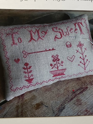 TO MY SWEET Pinkeep Cross Stitch Kit - Stacy Nash Primitives Cross Stitch