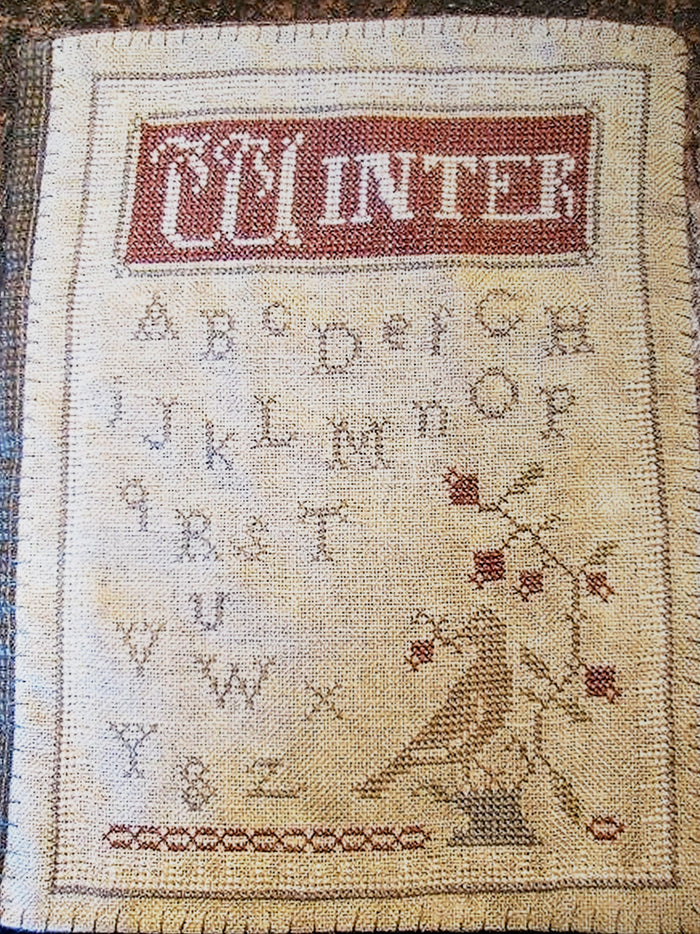WINTER Journal Cover Cross Stitch Kit - Primitivebetty's Cross Stitch