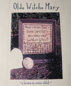 OLDE WITCHE MARY Cross Stitch Kit - Notforgotten Farm Cross Stitch
