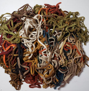 ASSORTED MIX BAG Wool Strips/Worms #6 for Rug Hooking - 1/4 yard