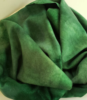 WETLANDS - Shades of Green -  Wool Fabric Hand Dyed in Studio - RSS177