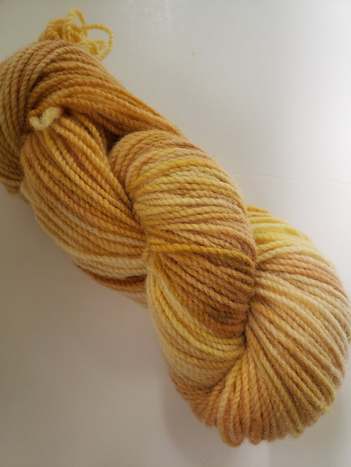 YELLOW SUSIE'S -  Hand Dyed Yellow Worsted Yarn for Rug Hooking - RSS192