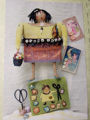 SEWER GIRL - Pattern for Stuffed Muslin Doll and Sewing Case