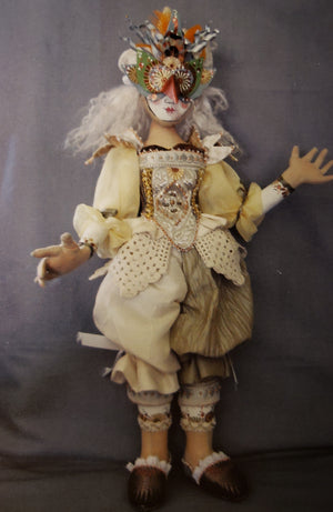 DRESS REHEARSAL JESTER - Paper Pattern for Cloth Art Doll by Christine Shively