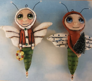 CHRISTMAS BUGS - Pattern for Doll by Frowning Francis