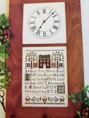 Quilt Time Sampler - Paper Pattern for Cross Stitch Sampler -  Little House Needleworks