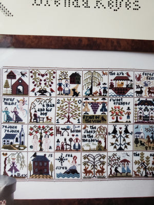 A SAMPLER STORY - Paper Pattern for Cross Stitch Sampler -  Brenda Keyes