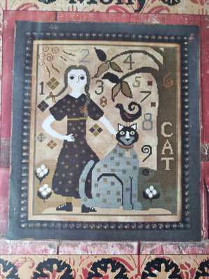 MOLLY - Paper Pattern for Cross Stitch Sampler -  Carriage House Samplings