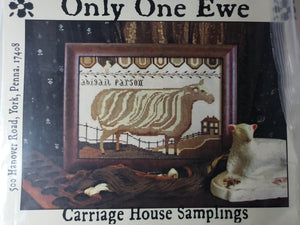 ONLY ONE EWE - Paper Pattern for Cross Stitch Sampler -  Carriage House Samplings