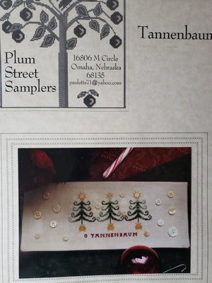 TANNENBAUM - Paper Pattern for Christmas Cross Stitch Sampler -  Plum Street Sampler