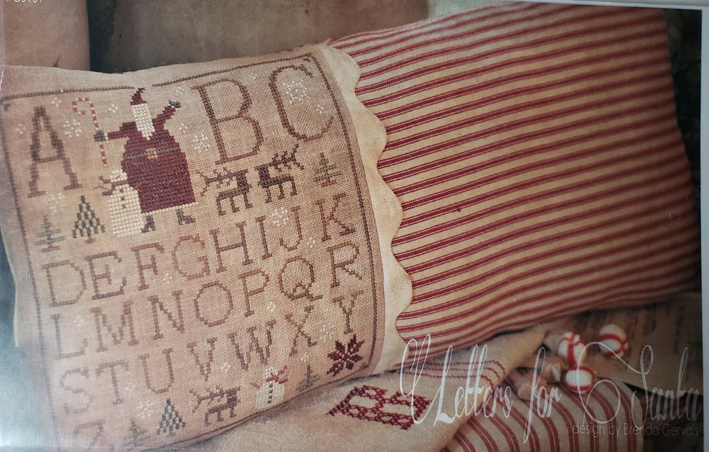 LETTERS FOR SANTA CS101 - Paper Pattern for Christmas Cross Stitch Pillow -  Country Stitches