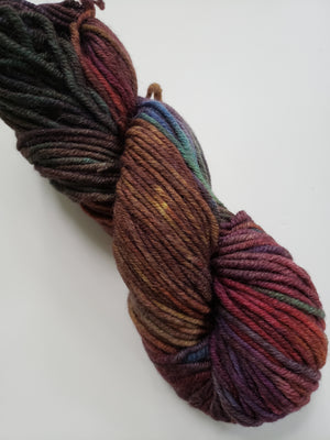 FALL FLOWERS - Merino Multicoloured Hand Dyed - Chunky Yarn for Rug Hooking
