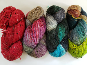FALL ORCHARD TWEEDS  - Vagabond Misfits 95776 - Merino Wool Yarn- Choose Your Skein
