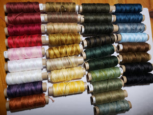 VALDANI 3 STRAND THREAD - 35 Hand Dyed Threads for Cross Stitch, Applique, Embroidery or Punch Needle