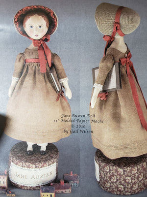 GAIL WILSON - 11 inch JANE AUSTEN Inspired Doll - Complete Kit with Accessories
