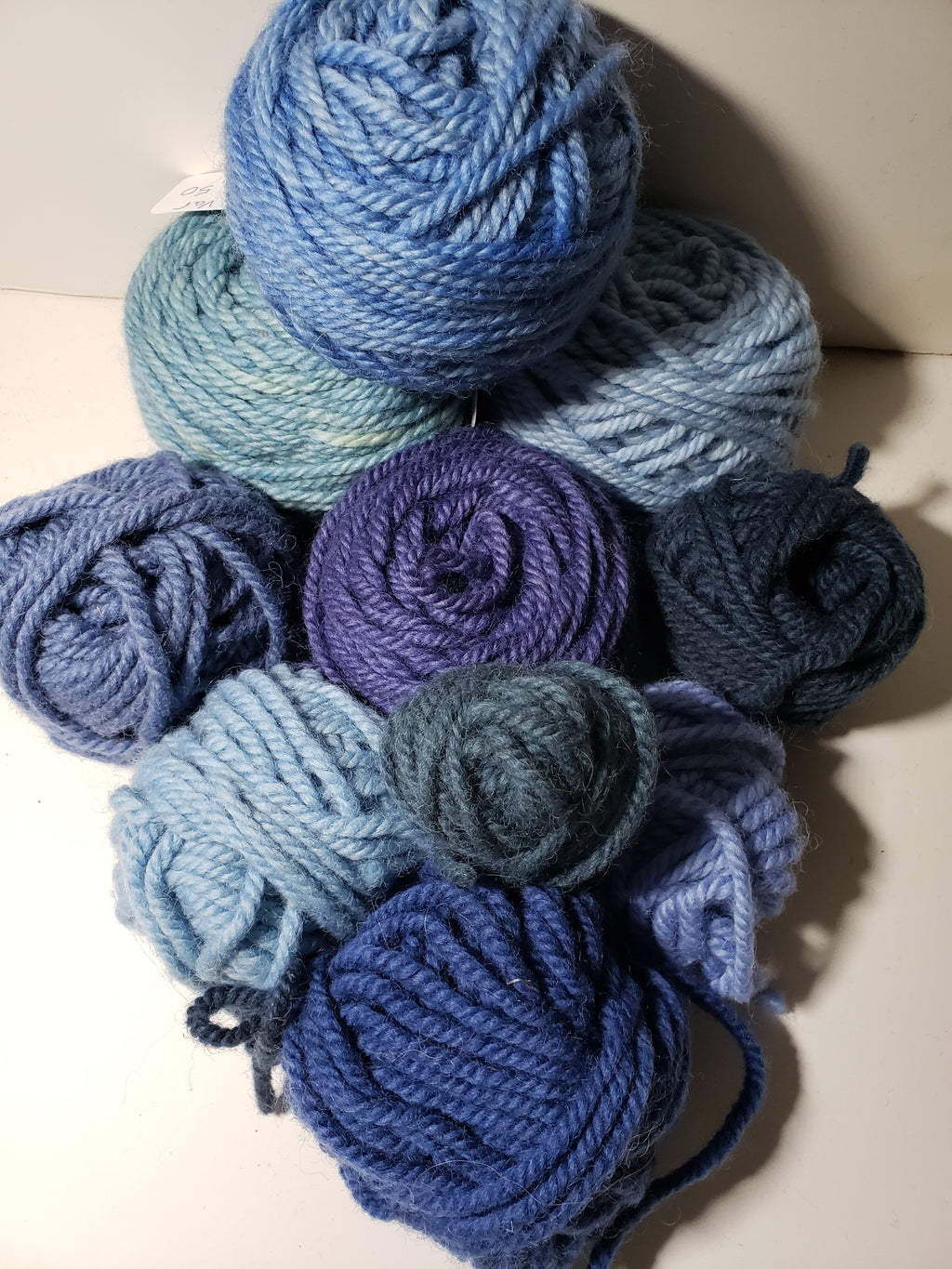 BLUE MIX - Hand Dyed Rug Yarn -  Shades of Blue for Rug Hooking and Punch Hooking