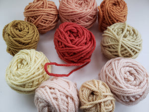 YELLOW/ORANGE/RUST - Hand Dyed Rug Yarn -  Shades of Yellow for Rug Hooking and Punch Hooking