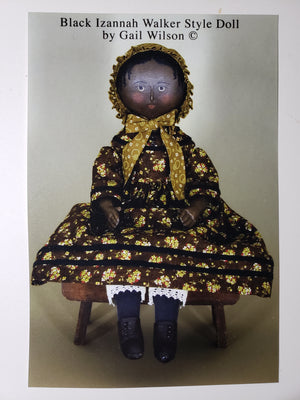 GAIL WILSON - Historical Folk Doll Series - A Black Izannah Walker Style Doll - Complete Kit