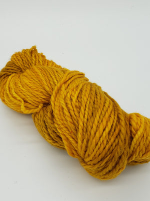 GOLDEN OAK - LIL TWISTY 2 PLY -  Hand Dyed Shades of Gold, Yellow, Toffee Worsted Yarn for Rug Hooking - RSS218