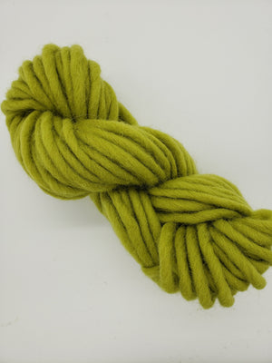 Chunky - APPLE GREEN - Hand Dyed Yarn - Shades of Green