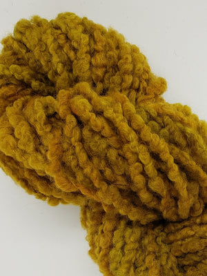 Textured Wool Strands - HARVEST - Hand Dyed 100% Wool Yarn OOAK - Shades of Gold