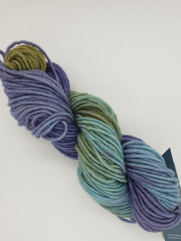 Wonder Woolen - NOVEMBER SKY -  Fleece Artist Hand Dyed Yarn - Shades of Blue