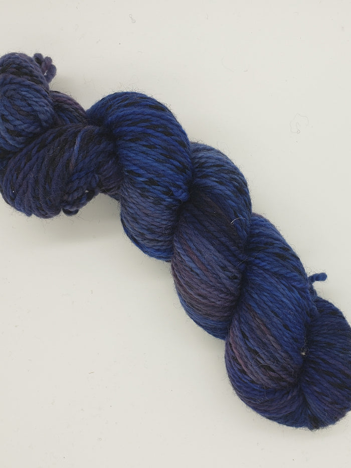 Worsted - LAKE WATERS - Hand Dyed Yarn - OOAK Variegated Shades of Blue