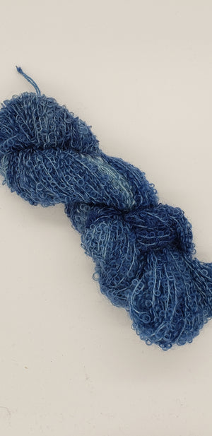 Wool Curly Locks - BROOK - Hand Dyed Textured Yarn - Landscape Shades