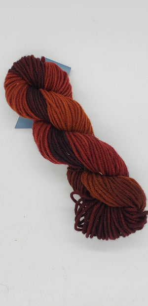 Wonder Woolen - CLOVE -  Fleece Artist Hand Dyed Yarn - Shades of Rust, Orange