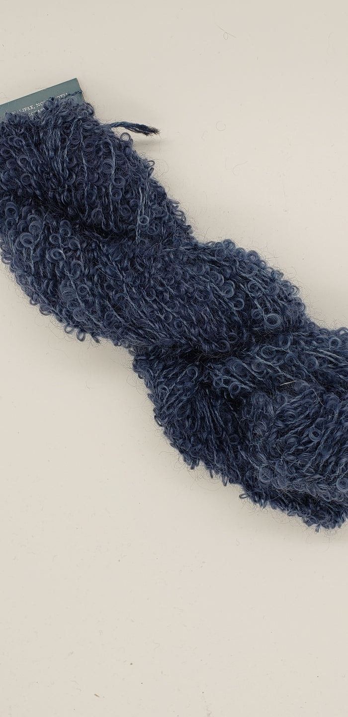Wool Curly Locks - DENIM - Hand Dyed Textured Yarn - Landscape Shades